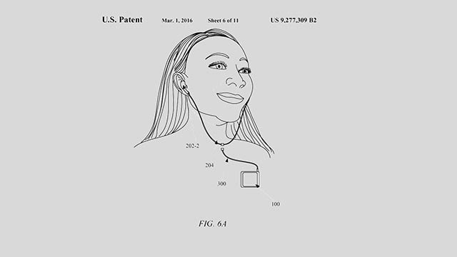 Apple has been granted a patent for new EarPod headphones, which could hint at what's going to ship with the new iPhone 7. (Credit: USPTO)