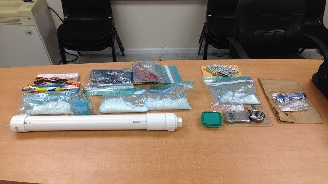Drug related paraphinalia including meth recovered by the drug task force. (Credit: Franklin County Sheriff's Office)