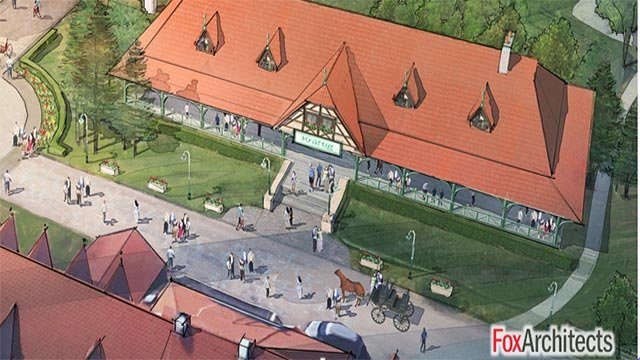 A rendering of the proposed Busch Family Pavilion (Credit: FoxArchitects / Billy Busch)