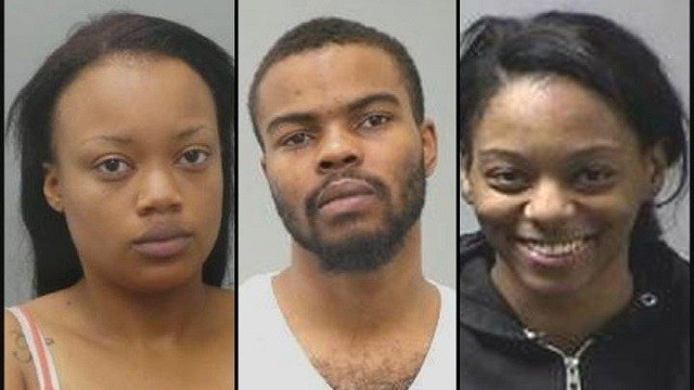 Tiara Franklin (L) charged with identity theft, Jerry Parker (M) & Brittany Young (R) are also charged in connection to crime (Credit: St. Louis County Police Department)