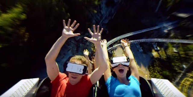 Six Flags St. Louis has a new virtual  reality ride for the 2016 season.  (Credit: Six Flags Entertainment Corp.)