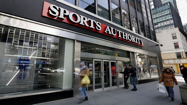 Sports Authority Inc. will be closing down three St. Louis area stores. (Credit: AP Images)