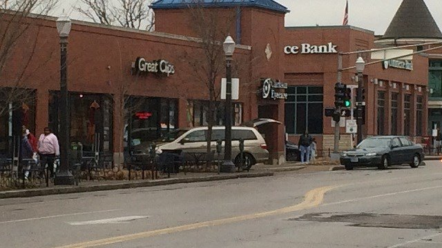 A car lost control near Great Clips in Tower Grove South. (Credit: KMOV)
