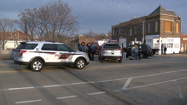 A chase ended near the intersection of Tower Grove and Vandeventer Sunday, (KMOV)