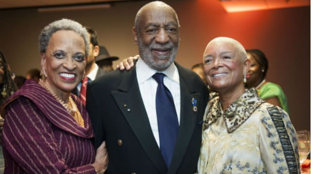 Dr. Johnnetta Betsch Cole, left, Dr. Bill Cosby and Dr. Camille Cosby, right, are photographed at the 50th Anniversary Gala of the Smithsonian's National Museum of African Art on Friday, Nov. 7, 2014,