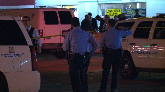 Officers respond to a fatal shooting in North St. Louis Tuesday night. (KMOV)