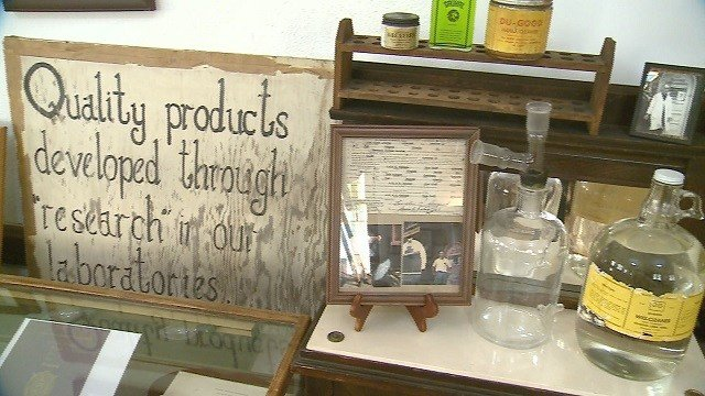 Display at the George B. Vashon African Research Museum (Credit: KMOV)