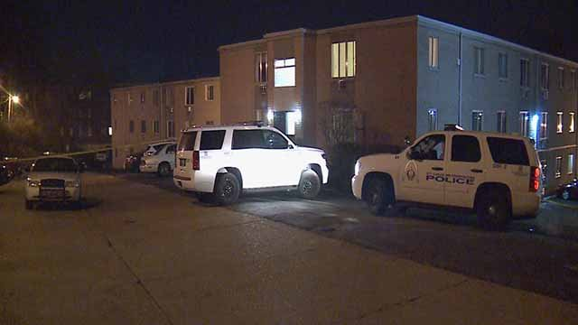 Police on the scene of a shooting on Nottingham Avenue. Credit: KMOV
