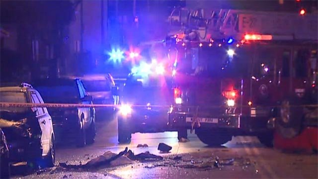 The St. Louis Fire Department was called to a fatal crash in the 5900 block of Goodfellow Friday morning (Credit: KMOV)