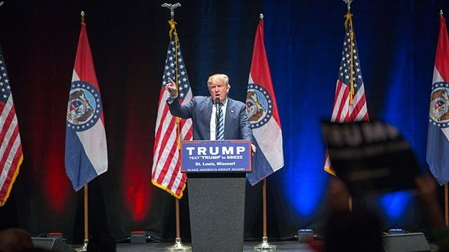 Donald Trump speaks at the Peabody Opera House  (Zach Dalin / KMOV.com)
