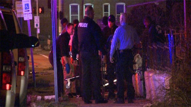 Police responded to the 1400 block of Blackstone after a man was shot early Tuesday morning. (Credit: KMOV)