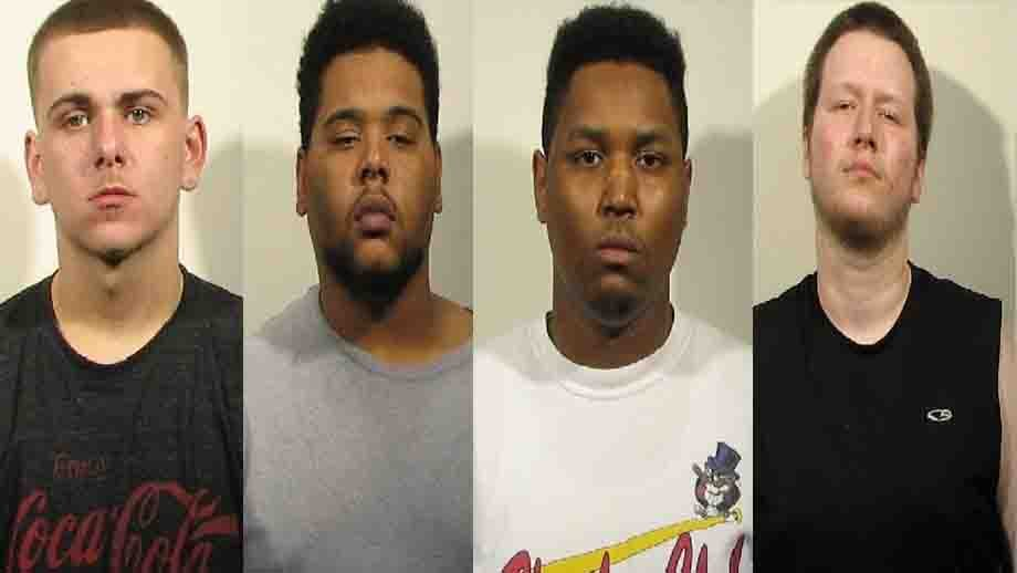Brenden Day, 18, Daniel Armstead, 20, Rachim Johnson, 20, and Robert D. Fulks, 20, are accused of criminal activity at a park in Granite City. Credit:  Granite City police