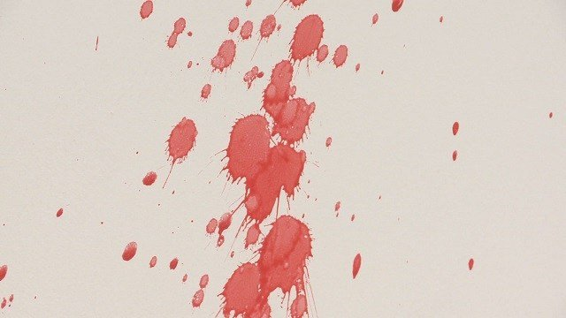 Fake blood spatter is used for students to study in the new forensic science class. (Credit: KMOV)