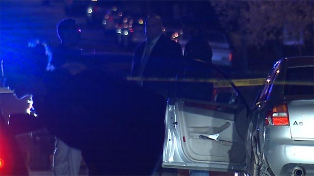 Two people were shot in the 4100 block of Enright Wednesday night. (Credit: KMOV)