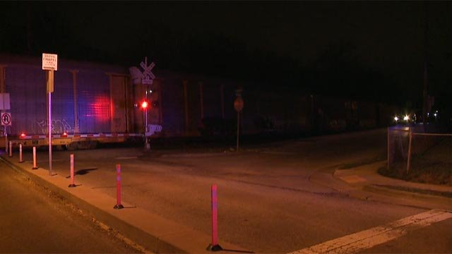 Emergency crews were called to South Ballas and Boaz after a pedestrian was reportedly hit by a train Friday (Credit: KMOV)