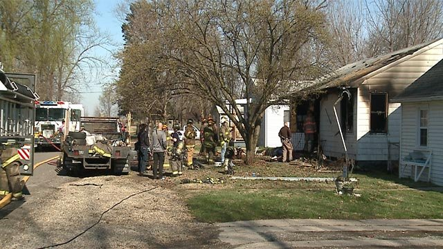 A woman was pronounced dead following a fire in Madison County Monday (Credit: KMOV)