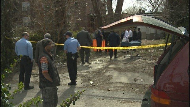 Skeletal remains were found in the backyard of a residence in the 4400 block of Labadie Avenue. (Credit: KMOV)