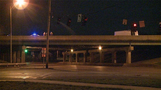 Multiple westbound lanes of I-270 were closed following a Wednesday morning crash (Credit: KMOV)