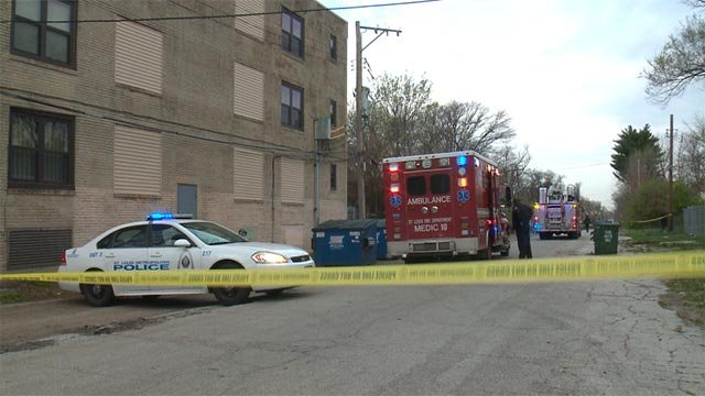 Shortly before 7:45 a.m., homicide investigators were called to Sarah and Enright where two deceased victims were found.