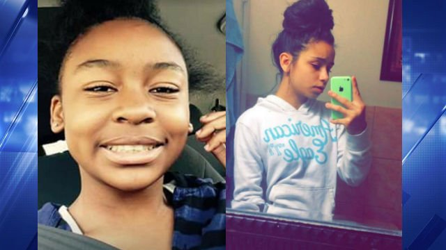 Nyjaya Lindsey (left) and Taylor Stevenson (right) were last seen near Hazelwood Central High School. Photo Courtesy of St. Louis County Police.