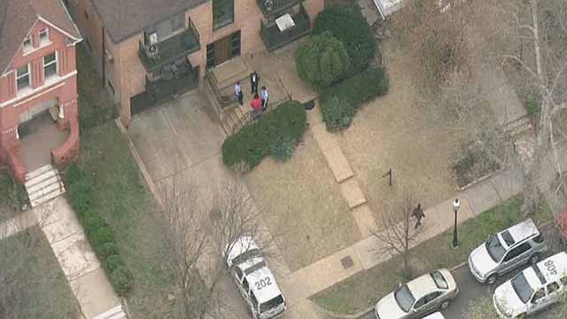 Police on scene of a shooting in the Central West End on Thursday evening. Credit: KMOV-TV