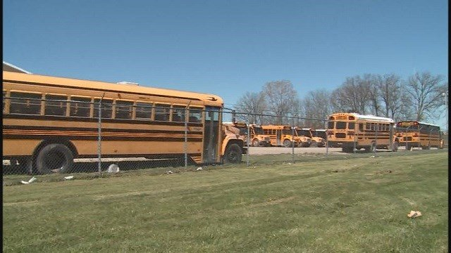 Wright City school buses (Credit: KMOV)