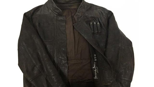 """Han Solo's rakish leather jacket from """"Star Wars: The Force Awakens"""" is on the auction block. (Credit: If Only)"""