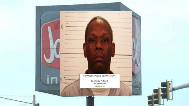 Courtney P. Scott, 47, is accused of robbing a Swansea Jack In the Box (Credit: Swansea Police Department)