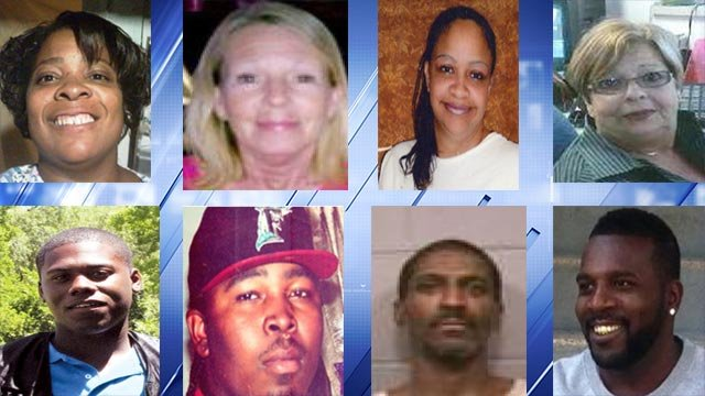 CrimeStoppers is highlighting these eight homicides for the month of April (Credit: CrimeStoppers)