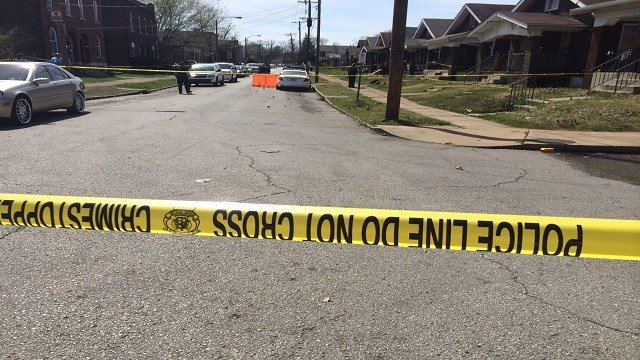 The scene at the 300 block of Christian Avenue, where a man was found dead. (Credit: KMOV)