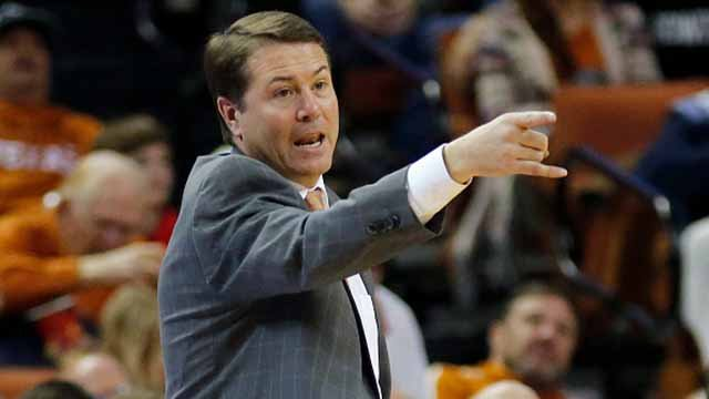 Head coach Travis Ford of the Oklahoma State Cowboys reacts as his team plays the Texas Longhorns at the Frank Erwin Center on January 16, 2016 in Austin, Texas. Photo by Chris Covatta/Getty Images