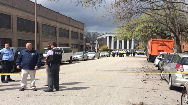 An officer-involved shooting took place in the Central West End Thursday (Credit: Lauren Pozen, News 4)