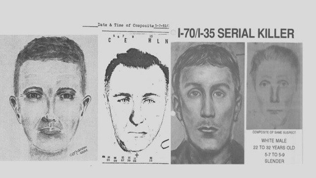 A sketch police released of the suspect at the time of the killings. (Credit: St. Charles Police Department)