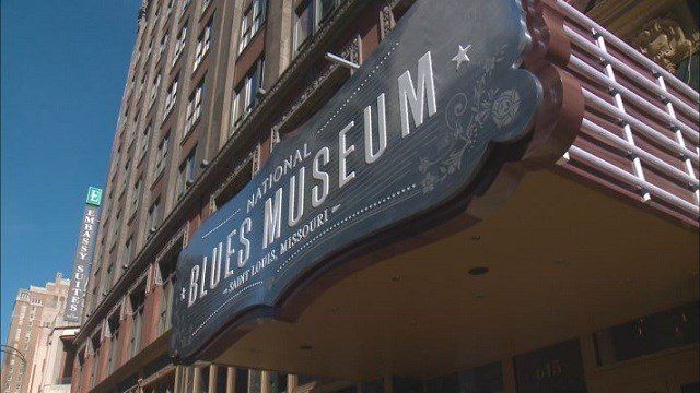 The front marquee of the new National Blues Museum. (Credit: KMOV)