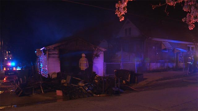 A fire damaged a home in the 5900 block of Tara in north St. Louis Monday (Credit: KMOV)