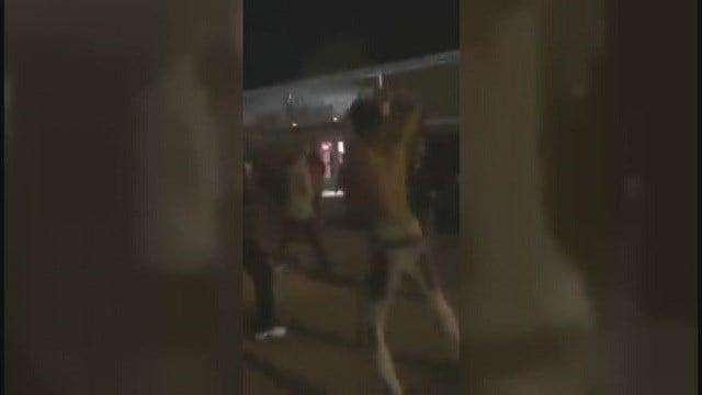 Teen brawl at VFW hall (Credit: Brian Rogers)