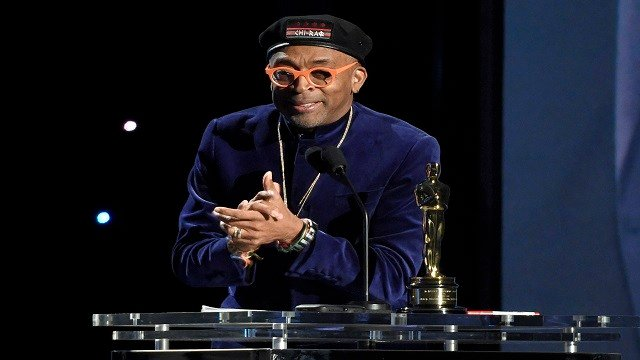 Spike Lee accepts an honorary Oscar at the Governors Awards at the Dolby Ballroom on Saturday, Nov. 14, 2015, in Los Angeles. (Photo by Chris Pizzello/Invision/AP)