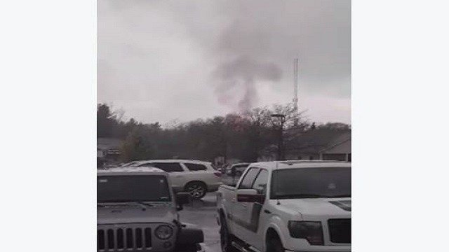 A screenshot from a video of the fire. (Credit: Alicia Leigh)