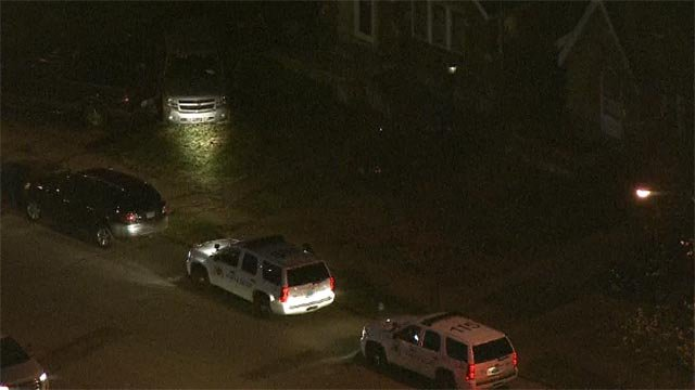 A vehicle was parked when it was hit in the 4600 block of McCausland Thursday (Credit: KMOV)
