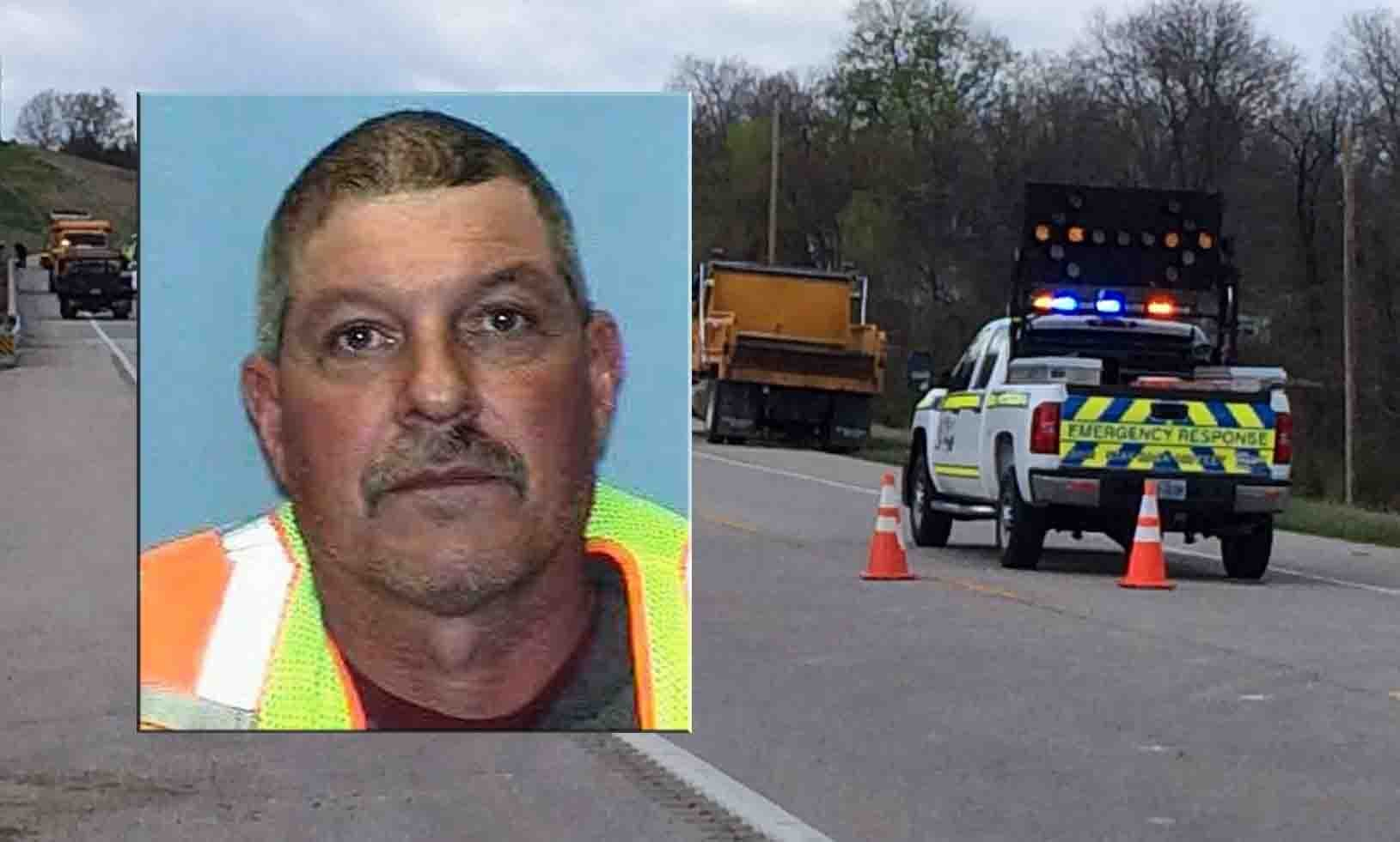 Lyndon D. Ebker, a longtime MoDOT worker was struck and killed today in the line of duty on Rte. 100 in Franklin County.