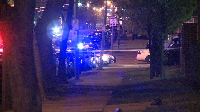 A woman was fatally struck by a vehicle during a hit-and-run accident at north Market and North Grand (Credit: KMOV)