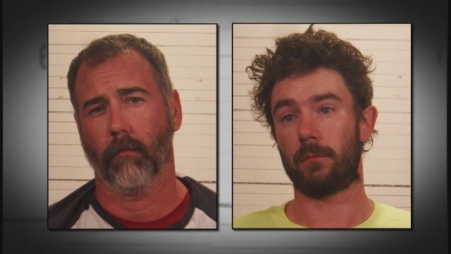 Thomas May, left, and Christopher Wininger, right, were both charged with aggravated battery. (Credit: St. Clair County Sheriff's Office)