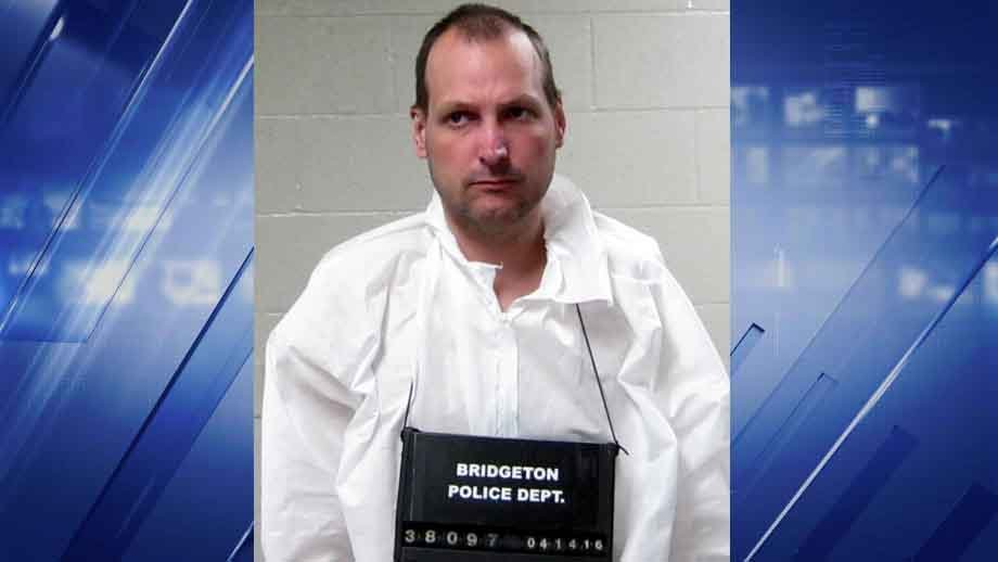 Douglas Herr, 44, is accused of making pipe bombs in his hotel room. Police believe he tried to buy some of the materials at a Bridgeton Home Depot. Credit: Bridgeton PD