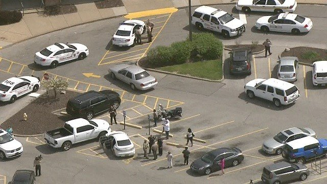 A man was taken into custody in Florissant following a bi-state chase (Credit: KMOV)