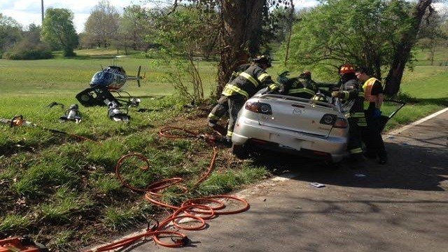 Rescue crews respond to fatal accident Sunday. (Black Jack Fire Protection District / Facebook)