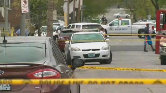 An officer-involved shooting was reported in the 3200 block of St. Louis Avenue Tuesday morning (Credit: KMOV)