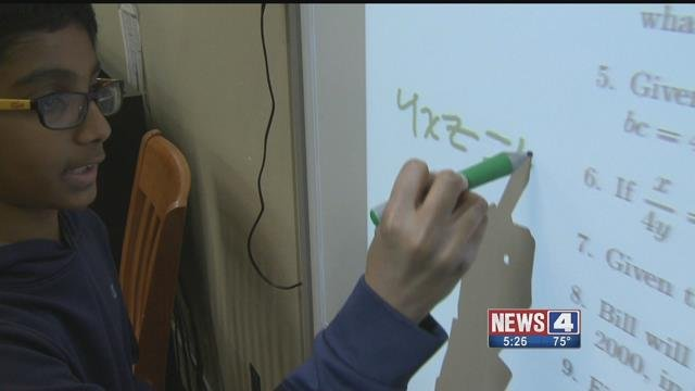 Rockwood Valley middle schoolers practice for MathCON (Credit: KMOV)