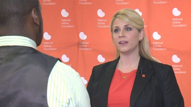 Laura Fine is the Executive Director for the National Kidney Foundation in St. Louis. (Credit: KMOV)