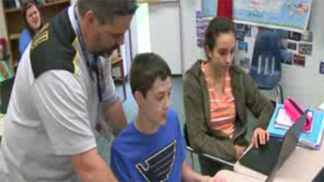 Kevin Walters' students pitched in to help him following his cancer diagnosis (Credit: KMOV)