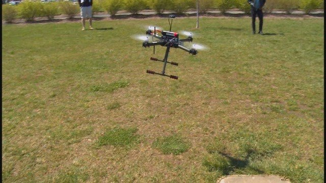 Drone built by Edwardsville HS students (Credit: KMOV)
